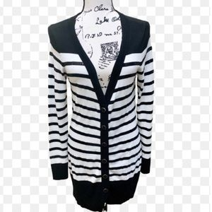 CWHBM Striped Sequin Detail Button Down Cardigan